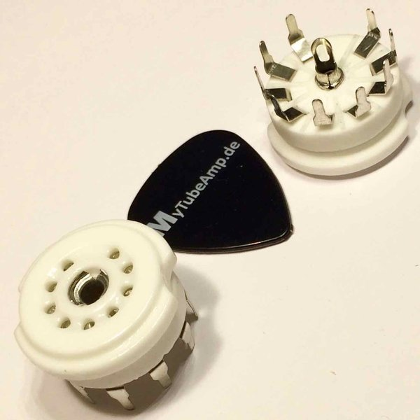 2* noval sockets ceramic for PCB mounting 22 mm