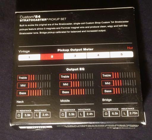 Fender Custom Shop`54 Stratocaster Pickup-Set