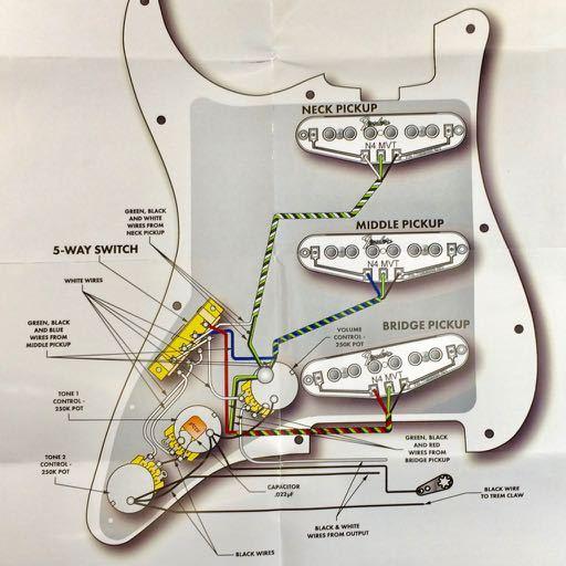 fender n3 wiring diagram fender gen4 noiseless stratocaster pickup set